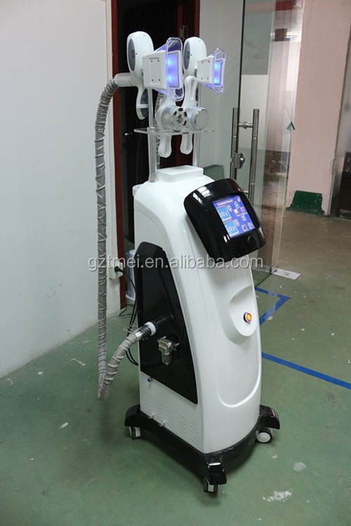 Double cryolipolysis handle+cavitation+RF+Lipolaser cryolipolysis 5 in 1 slimming machine