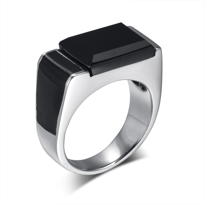 2015 Smart Stainless Steel Stone Ring Designs for Men Square ...