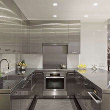 modern used cheap modular stainless steel kitchen cabinets