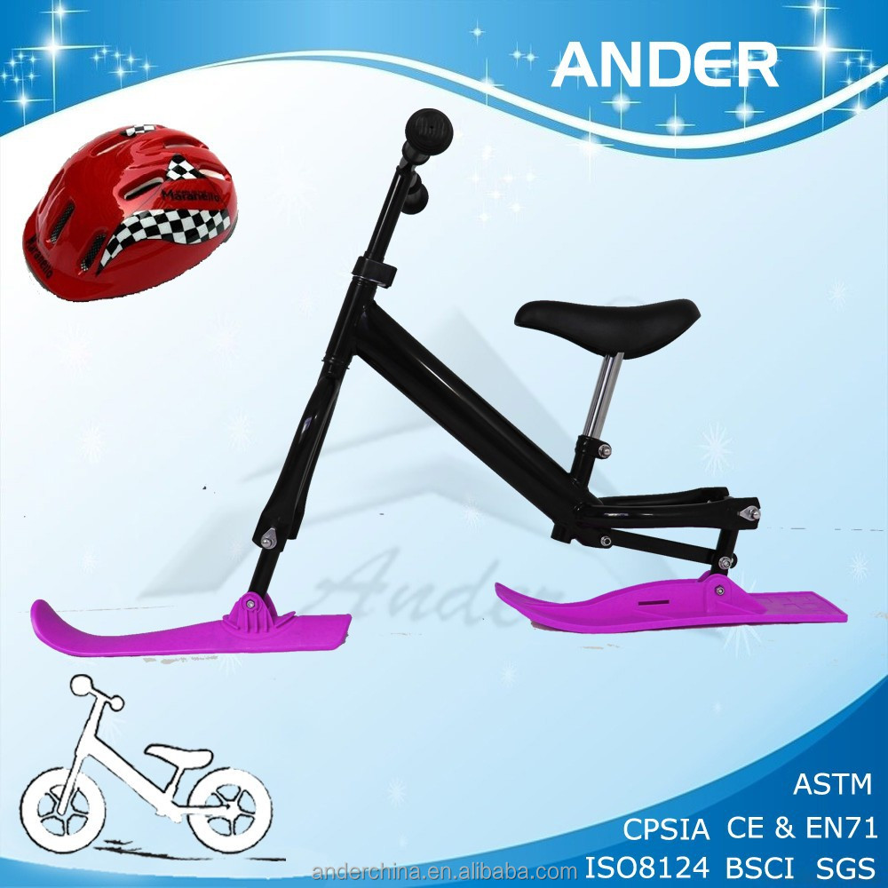 special colored ski bicycle / kids' snow sledge