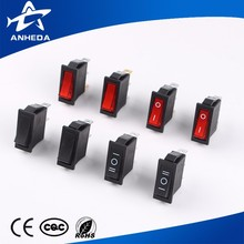 Low Price t85 6p types of electrical bellboys copper rocker switch