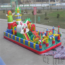 commercial cheap inflatable bouncer,jumping bouncy castle with slide