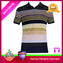 Hot Selling custom men striped polo shirt, polo shirt China clothing manufacturers online shopping usa
