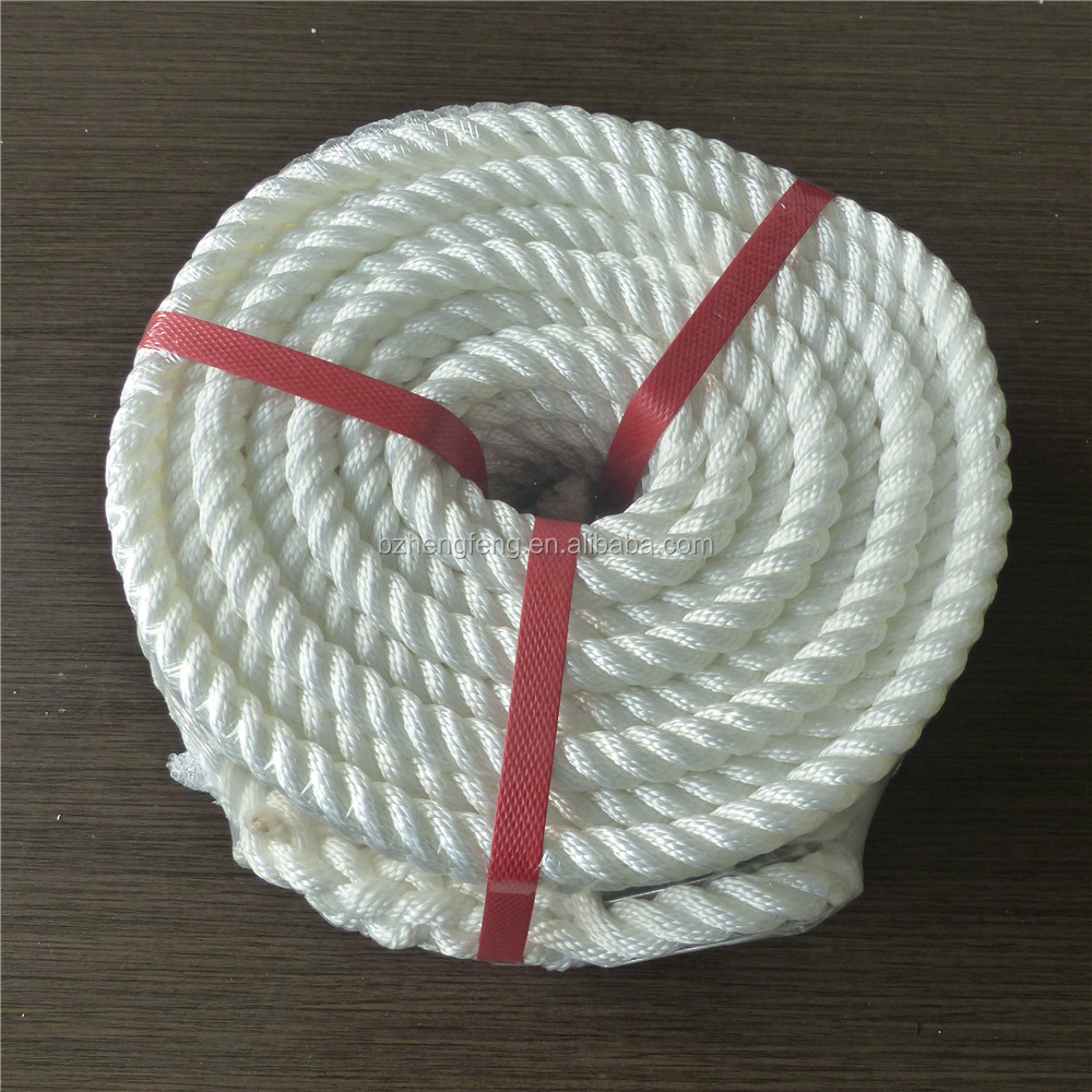 Binzhou 3 Strand / 3-ply mooring ship rope used ship rope