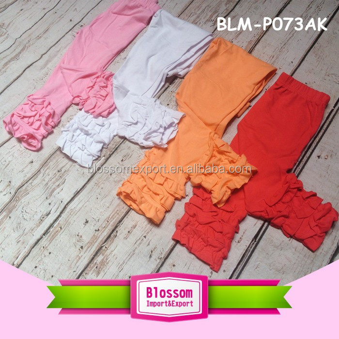 Children plain leggings cotton long casual trousers boutique baby boy pants