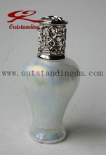 Decorative Indoor Small White Glass Oil Lamp For Home Fragrance
