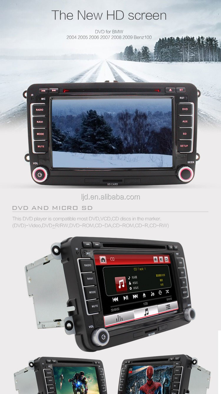 Car DVD player Entertainment Multimedia System For Volkswagen VW PASSAT B6 POLO Golf Gps Navigation Reversing Camera Free map BT