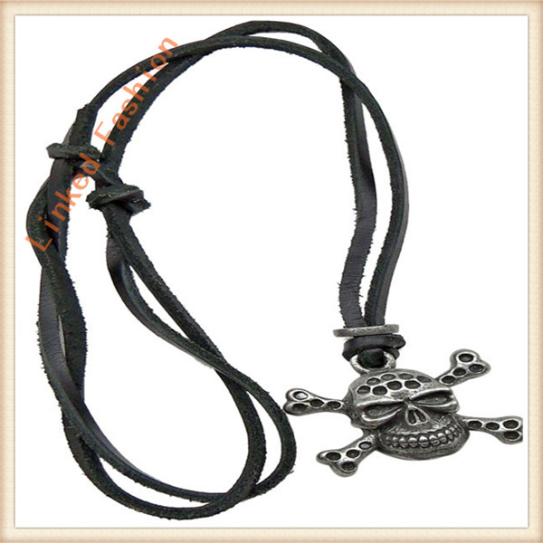 Leather necklace,men's jewelry.Accept small qtys order with mix designs.