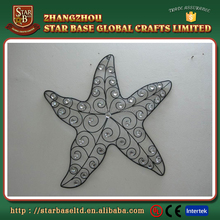 Pretty american christmas tree decoration iron sea star wall decoration
