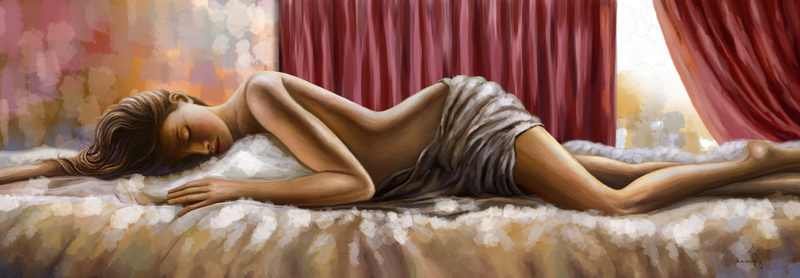 Chinese nude girl printed painting digital prints hotsale
