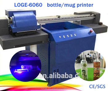 Emboss effect can digital uv printer with round tray