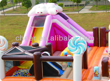Cheer Amusement candy themed fun city giant inflatable playground for children