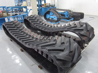 Good price for Agriculture Rubber Track Combine Harvester truck rubber tracks pads,