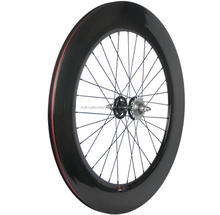 700C Fixed Gear Track Wheels 88mm Clincher carbon fiber wheelset carbon track bike wheels