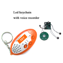 customized recording Sound effect Keychain with led light