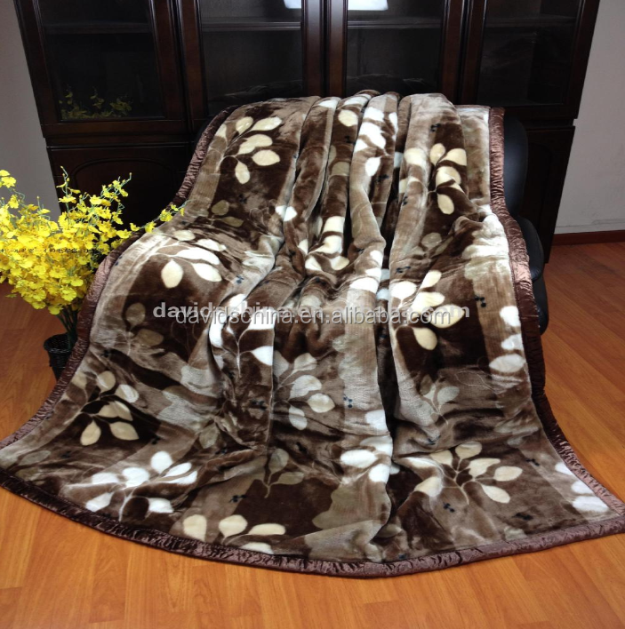 Home, Hotel Adult Heated 100% Polyester blanket Thick Mink China Royal Blanket