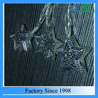 Fancy metal 3D star decorative christmas light string, holiday time creations led christmas lights,led christmas lights
