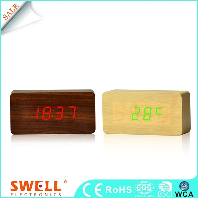Wholesale Led Table Alarm Function Plastic Clock Face For Print