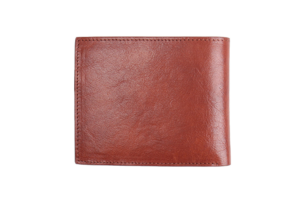 Fashion classical men genuine leather bifold card wallet with card slot Italian vegetable tanned leather coin purse