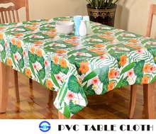 leaves jungle new design PVC plastic tablecloth PE disposable waterproof table covers
