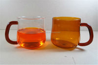 heat resistant hand made double wall glass mug/tea cup/water cup, manufacture,insulated glass coffee cups