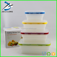High quality hot sell collapsible colorful food container
