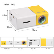 2017 hot sell 1080p full HD mini protable home projector 1300mah rechargeable battery projector YG300