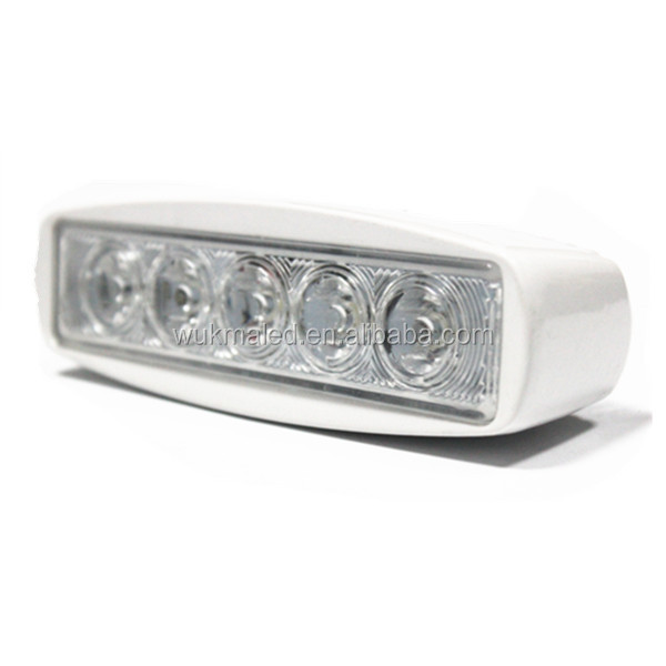 Best selling 2013 factory cost price white aluminum housing Boat accessories 12v 15w led work light