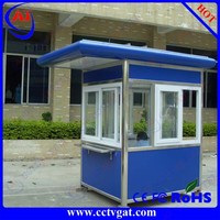 Customized prefabricated design portable mobile sentry box/security booth/guard house booth