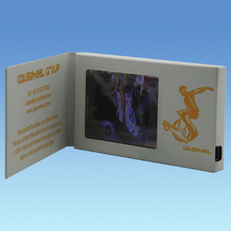 "2016 Latest 2.4"" video greeting card/video module/LCD video brochure"