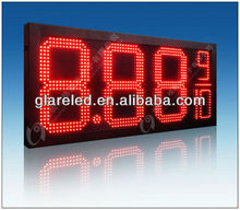 Hot Selling!!! Led Gas Display 8.889/10 Outdoor Use Waterproof IP65 Red/Green/Amber/Bule/White
