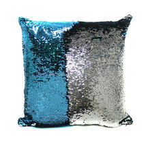 Mermaid Sequin Pillow Magical Color Changing Reversible Sequin Throw Pillow Cover Home Decor Cushion Cover Decorative Pillowcase
