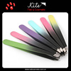 Assorted Color Slant Tip Tweezer Scissor / Makeup Slanted Eyebrow Tweezer