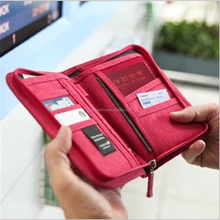 Hot sale fashion multifunctional credit card wallet travel passport holder