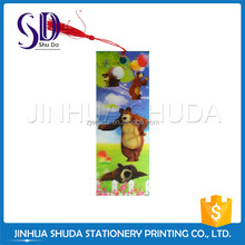 Good quality 3D lenticular bookmark for souvenir and promotion