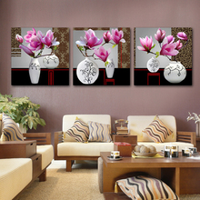 Modern abstract decoration flower painting wall <strong>pictures</strong> for living room