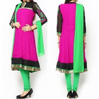 china fashion Pink and green ladies kurtis pakistani indian dress