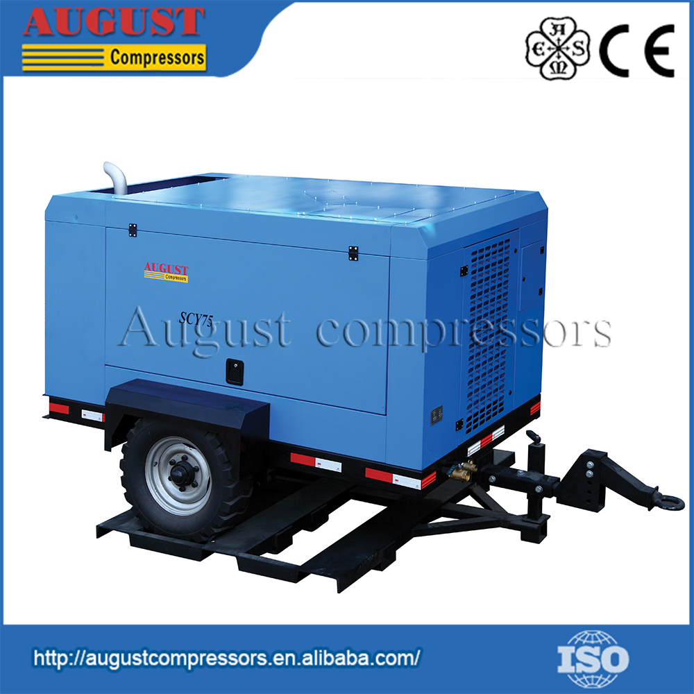 Experienced Factory 75KW Screw Silent Air Compressor Portable