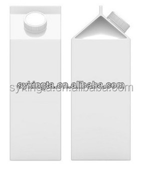 Aseptic long shelf life Juice gable top paper carton