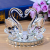 New Gifts Artificial K9 Glass Crystal Swan Wedding Favor