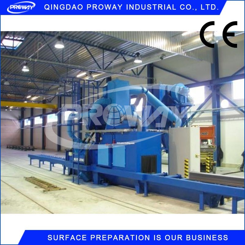 section steel shot blasting machine