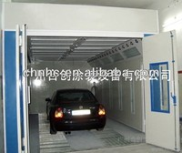 Water curtain airbrush spray booth for accident car body painting and baking