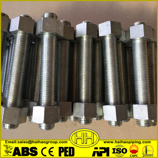 M42 Grade 8.8 Din931Galvanized Stud Hex Bolt and Nut