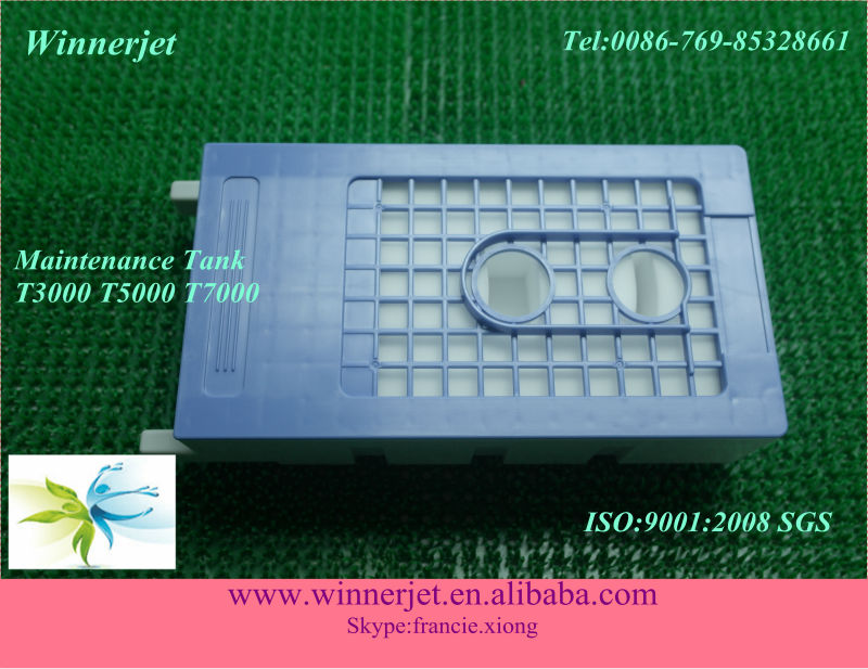 maintenance box for epson t3000 t5000 t7000 maintenance tank with chips