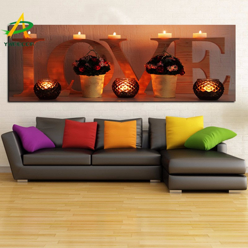 Love Art Painting Lighted On Waterproof Canvas Home Wall Decor With LED Light