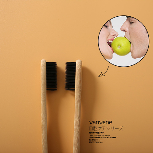 Low-Carbon and Friendly Bamboo Bristles Toothbrush
