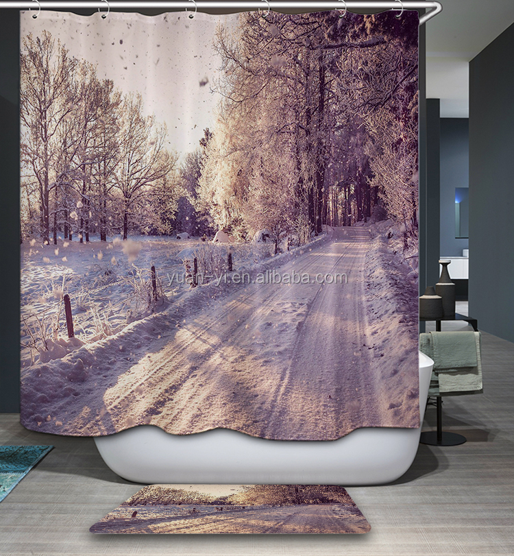 Latest Hot Selling Color Changing Shower Curtain