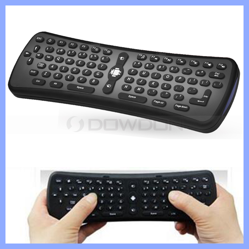 2.4G wireless air fly mouse mini QWERTY keyboard air mouse remote controll for Android TV Box