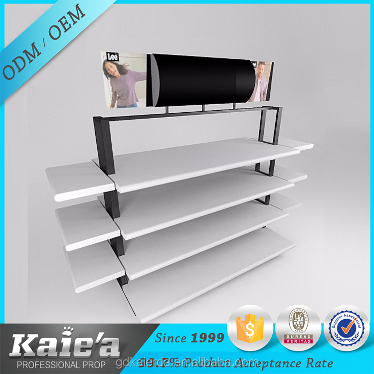 wooden rack wall clothing shops display stand