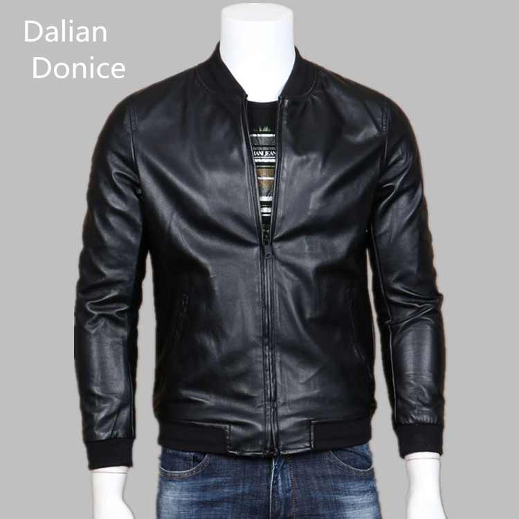Synthetic leather biker jacket men wholesale clothing direct from china